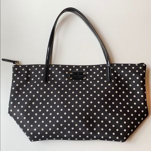 Kate Spade Black/White Polka Dot Tote